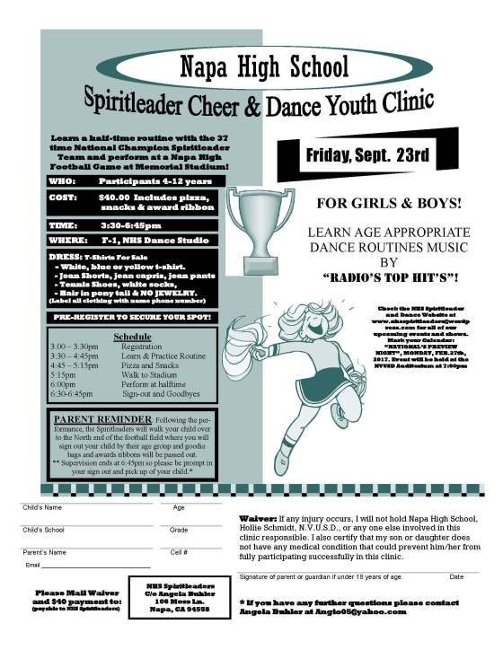 Updated Football Sept 2016  Youth clinic flyer.pub